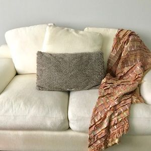 Pier 1 Imports satin/fringe throw blanket